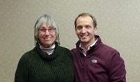 Helen Boley with Dave Clutter, Executive Director of Driftless Area Land Conservancy