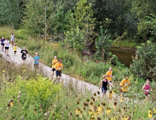 Among other things, this urban state trail provides opportunities for recreation and fitness, including an annual run/walk, coordinated by Melissa Cook.